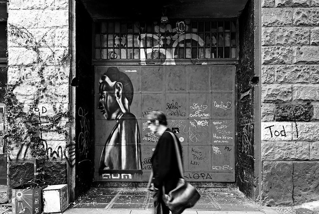 Dead gates // Everyone's passing by // R.I.P. Kunsthaus Tacheles