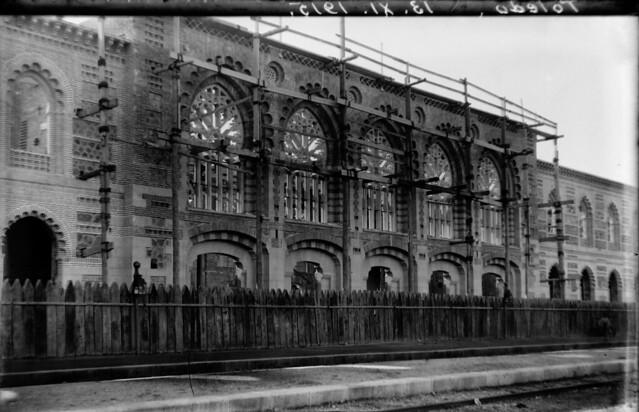 Estación de Ferrocarril de Toledo el 13 de noviembre de 1915  © Archivo Histórico Ferroviario del Museo del Ferrocarril de Madrid. Fotografía de F. Salgado. Signatura 0477-IF MZA 0-9