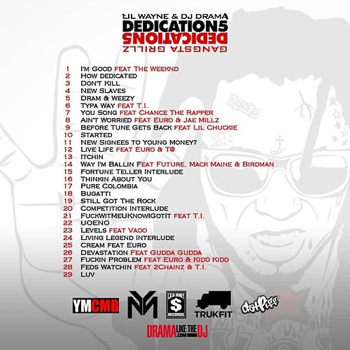 dedication-5-tracklist