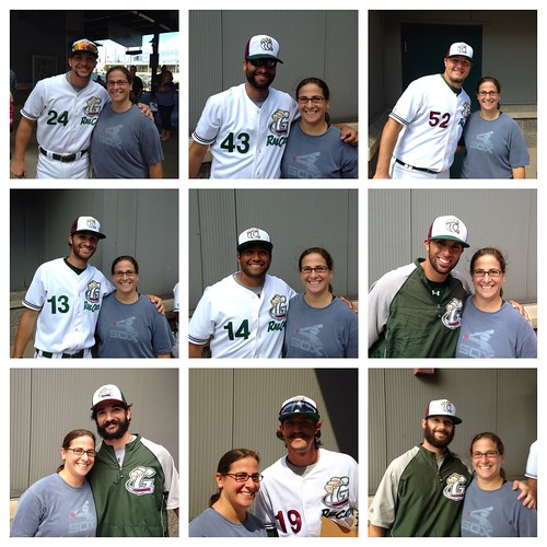 Collage of pictures with Railcats players
