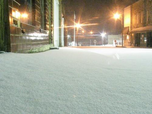 Downtown Cordova Alabama January 2011 Snow