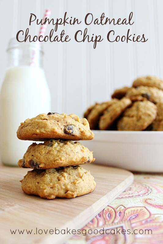 Pumpkin Oatmeal Chocolate Chip Cookies 4