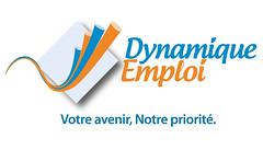 """le logo de Dynamique Emploi et son slogan """"Votre Avenir, Notre priorité"""""""