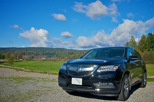 Riding in an Acura MDX this week from Acura Canada
