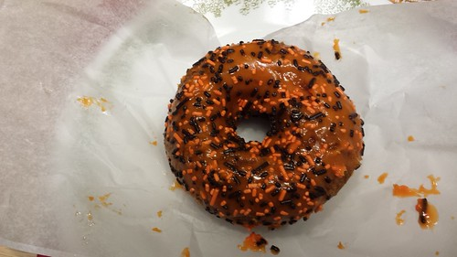apple pumpkin doughnut