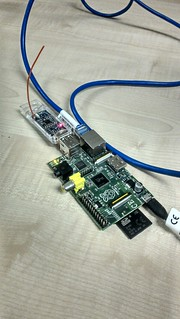 Raspberry Pi receiving radio transmissions from distance sensor
