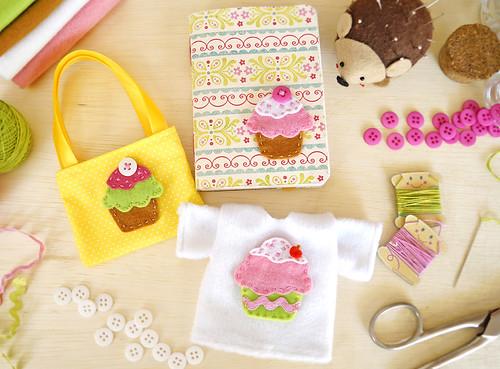 Cupcakes de Feltro (PAP com molde)