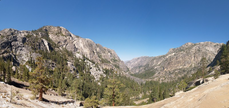 Looking down the Grand Canyon of the Tuolumne River from just above Waterwheel Falls
