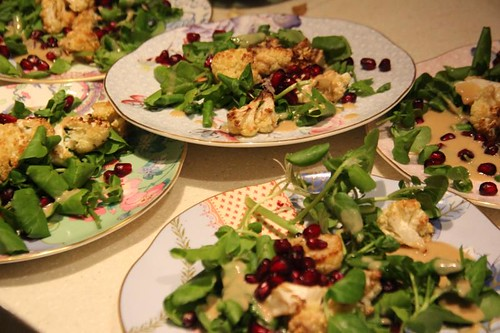 roasted-cauliflower-pomergranate-salad