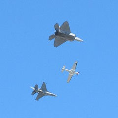 F22 Raptor, F18 Hornet and P-51 Mustang
