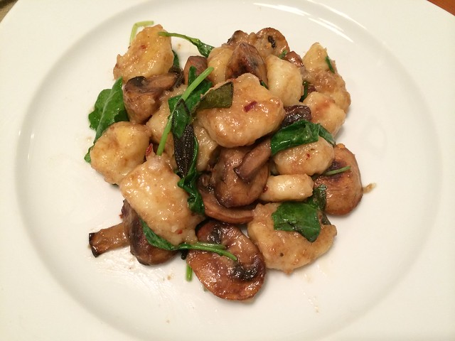 Gnocchi in sage/brown butter sauce