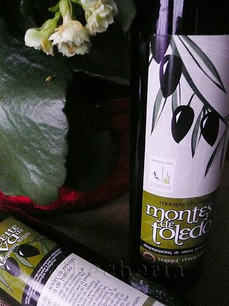 Raviolis de berza con alioli.Aceite Montes de Toledo
