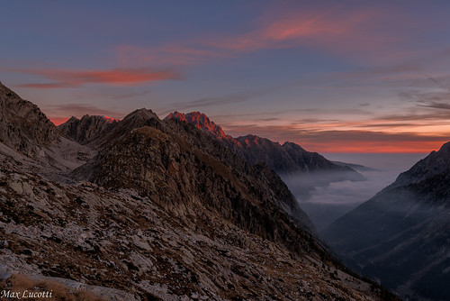 Sunrise over the Alpi Marittime