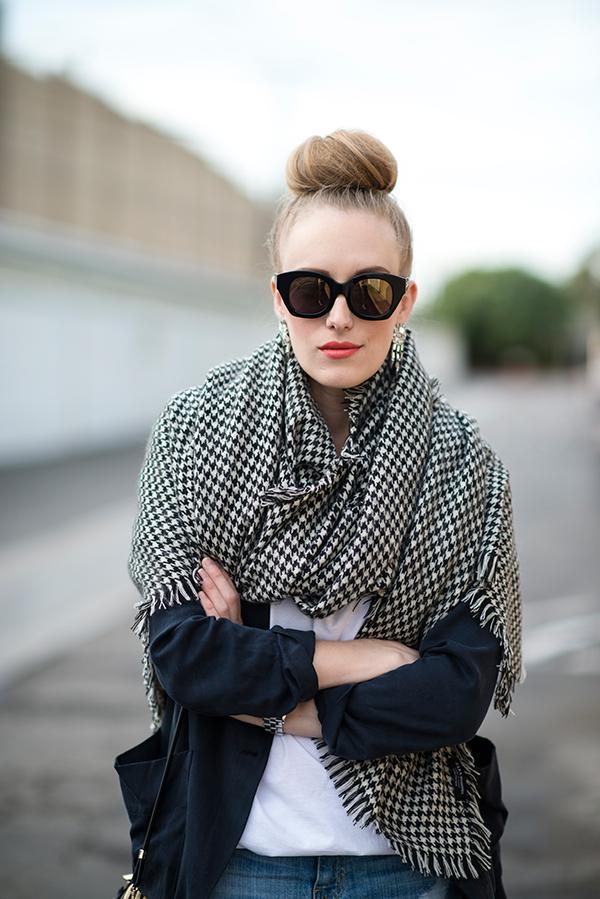 eatsleepwear, zara-scarf, karen-walker-sunglasses