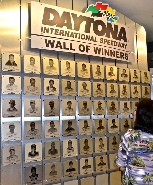 Wall of Winners at Daytona Speedway