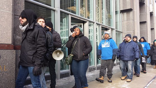 Fired Snarf's sandwich workers comtinue the struggle with a Jan 9 2014 press conference