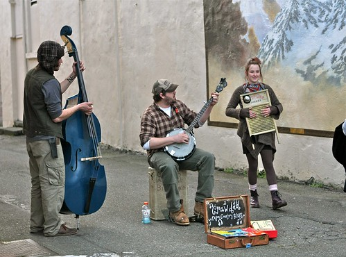 Crawdad in the Alley Pickin' For Dough by Seattle Daily Photo