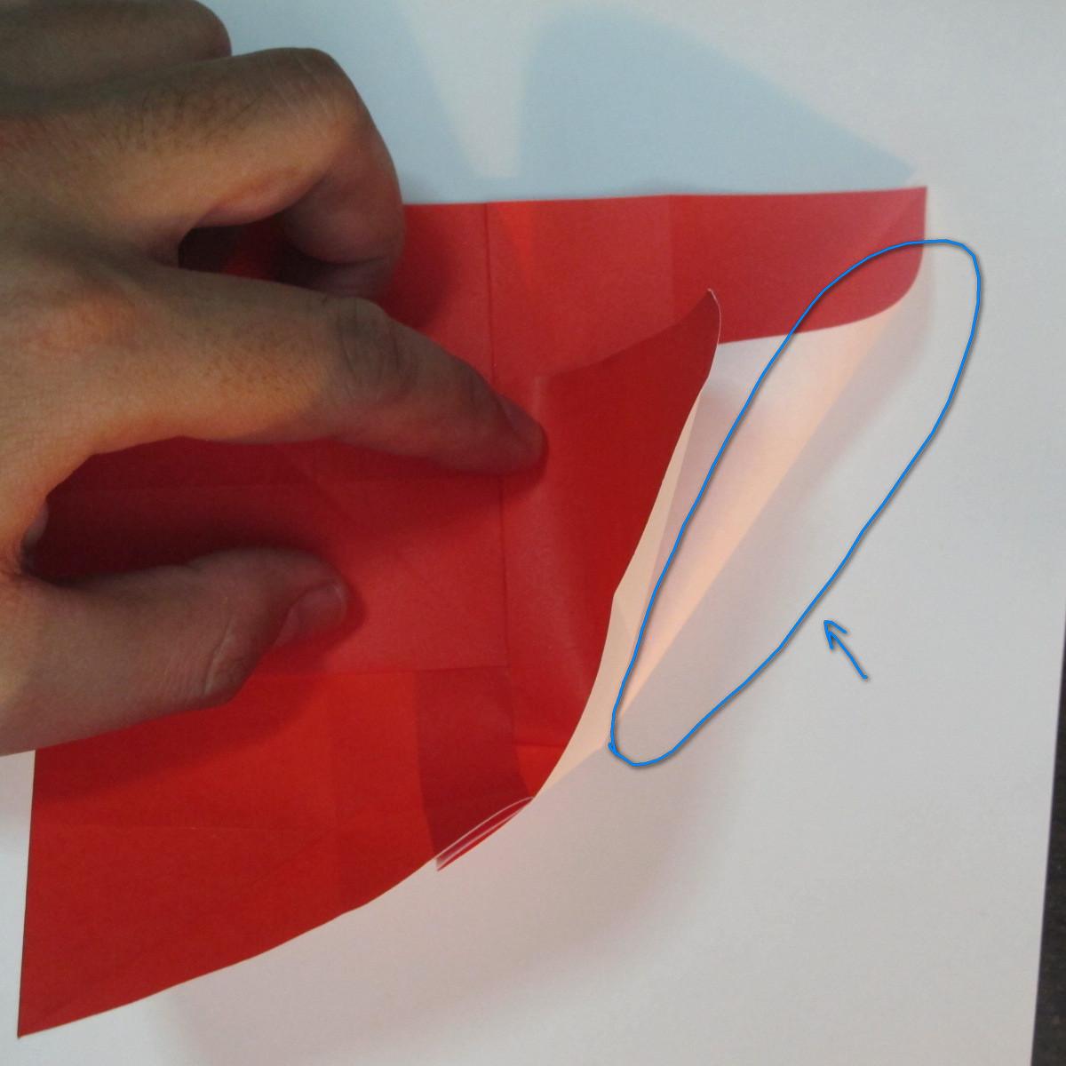 วิธีพับกระดาษพับดอกกุหลาบ 028