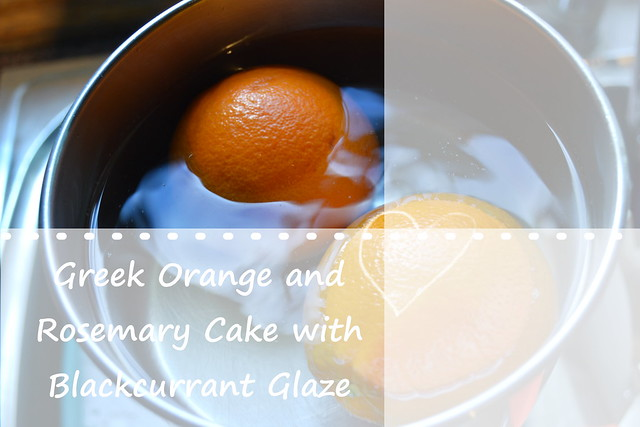 Greek Orange and Rosemary cake Title