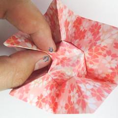 สอนวิธีการพับกระดาษเป็นดอกมะเฟือง (Origami Carambola) 025