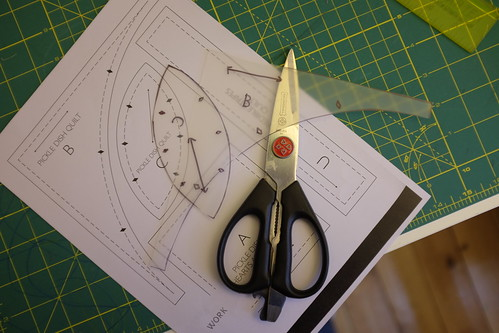 Cut out your templates. Use crummy scissors NOT nice ones!