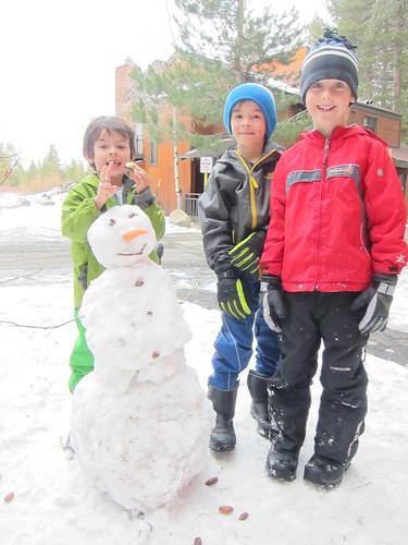 snowman building!