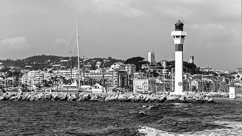Lighthouse in Cannes, France 17/10 2008.