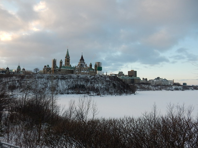 Parliament Hill on a chilly January morning