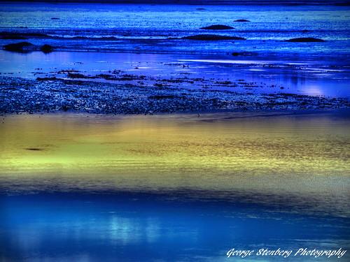 sunset twilight estuary pacificnorthwest washingtonstate hoodcanal skokomishriver tidalland olympuse3