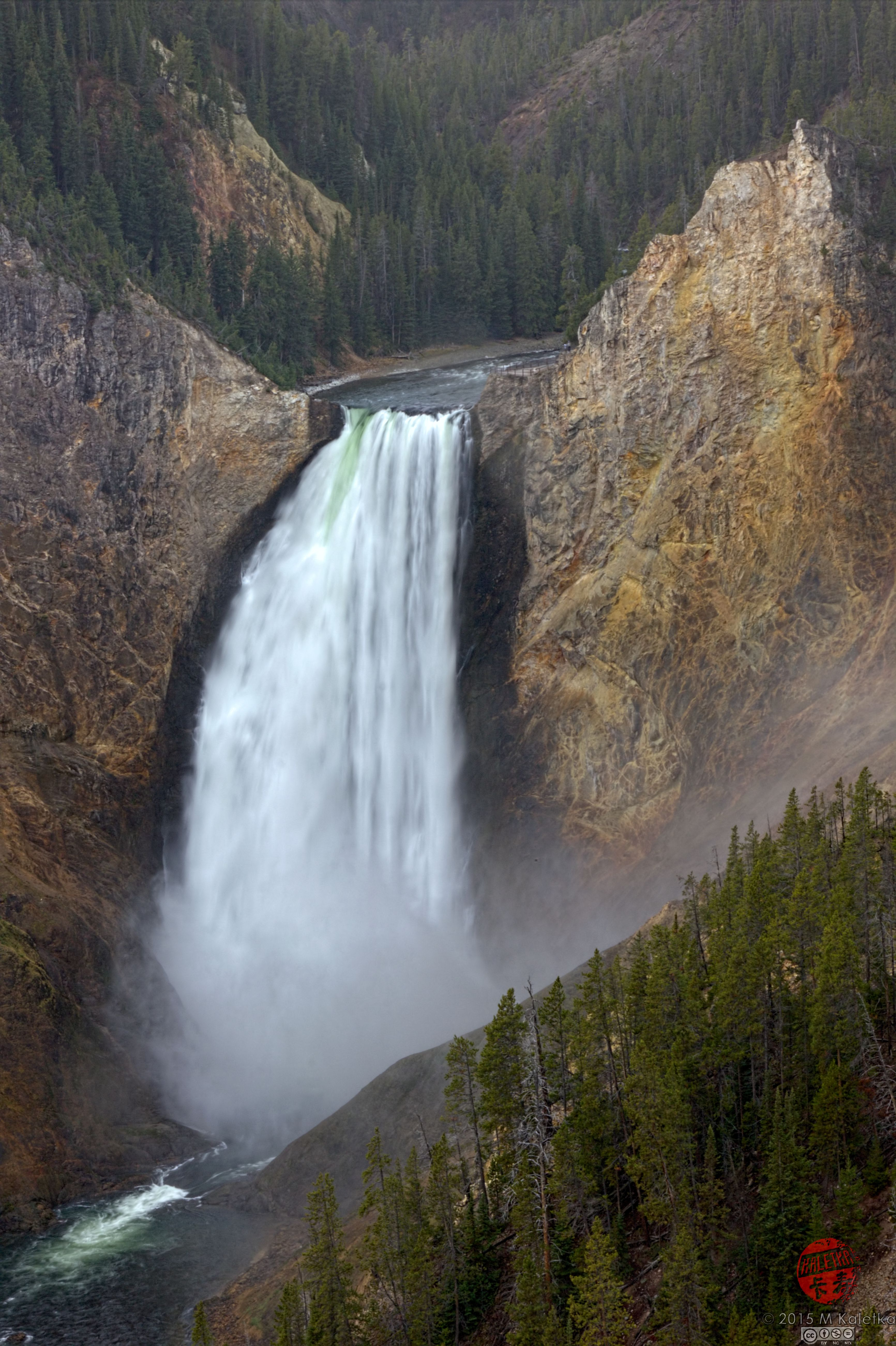 Yellowstone Park Elevation : Elevation of canyon campground amphitheater n rim dr
