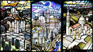 Catholic shrines in stained glass