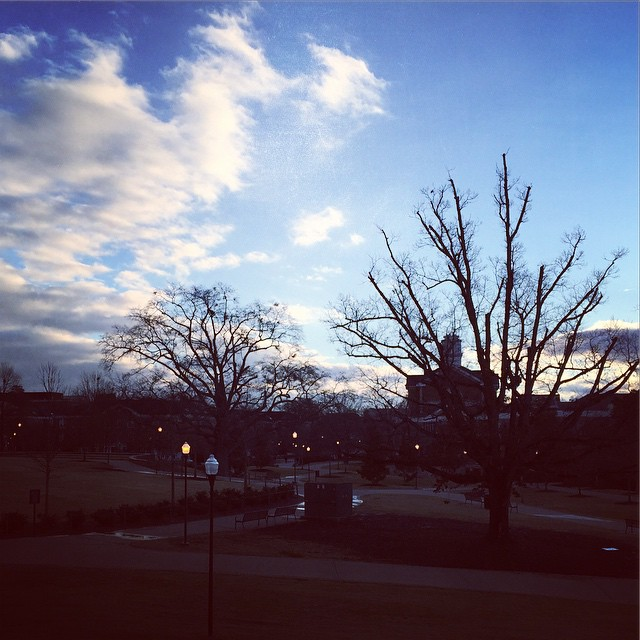 Morning sky on campus.