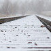6637 snow on the tracks by Karen Juliano