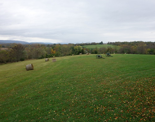 Cannons Overlooking the Antietam River, September, 2014