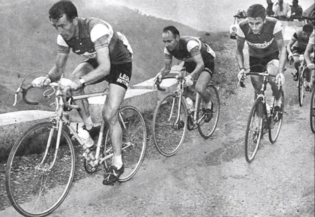 Bobet climbing with Anquetil