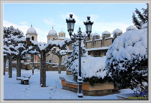 1 Primera nevada en Briviesca 2015