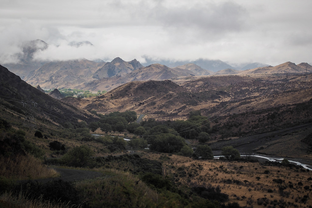 Moody skies looking south from Heddon Bridge, Molesworth Muster Trail, New Zealand