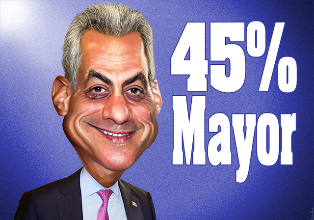 Rahm Emanuel - 45% Mayor