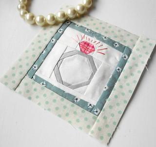 Block-a-Day - Block 41 Diamond Ring