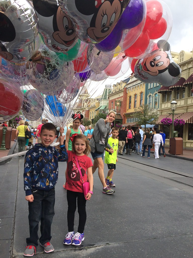 The kids were so happy to get to hold the bunch of balloons, I can't even begin to explain.