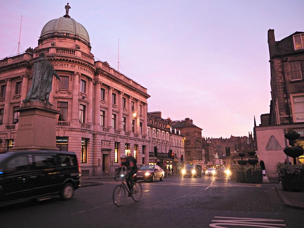 Edinburgh George Square sunset 1