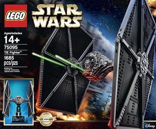 精緻比例有夠威~ 銀河帝國 主力戰機!LEGO 75095 TIE Fighter