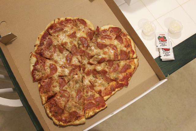 Sugar Pine Pizza Valentine Cake