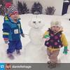 #Repost @daniellehage・・・Our first snowman!