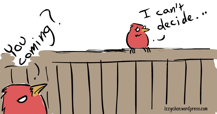red bird can't decide