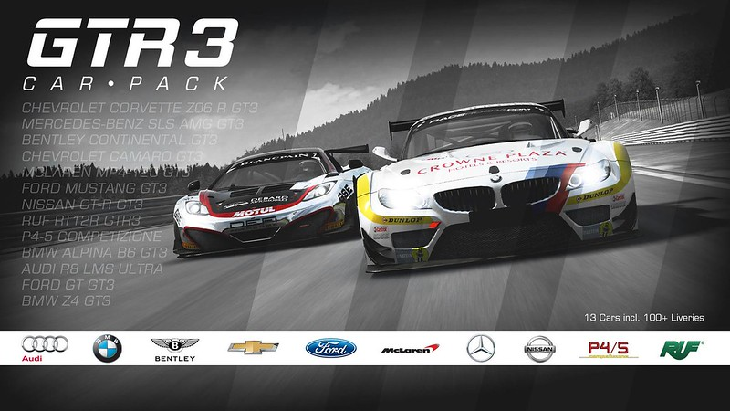 RaceRoom GT3 pack Available