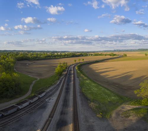 ohio field rural farm tracks aerial waverly drone inspire1pro