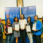 ACUscholarship2016-197Weemala David Pitt, Gail Barney, Fiona Manoa, Erin Taylor Healey, Attika Edgar, Christine Luck and Kate Wragge