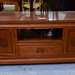Mahogany ornate low sideboard