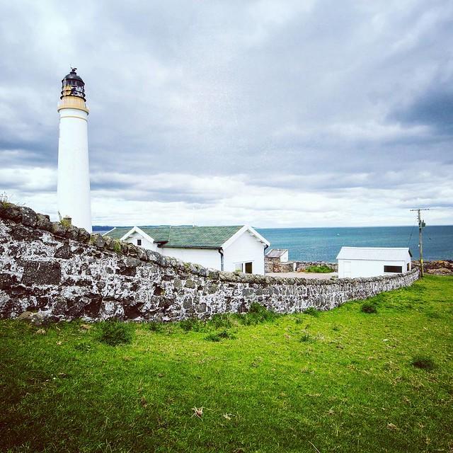 Scurdiness Lighthouse  Beautiful coastline at Ferryden. #scurdiness #lighthouse #clouds #sky #leadinglines #ferryden #montrose #angus #scotland #potd #picoftheday #instascotland #brilliantmoments